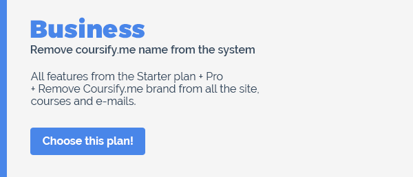 coursify.me business plan