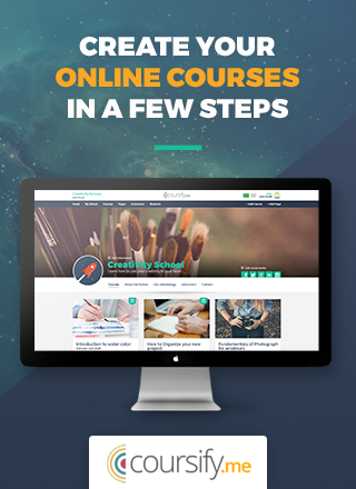 Create and sell online courses in a few steps with Coursify.me