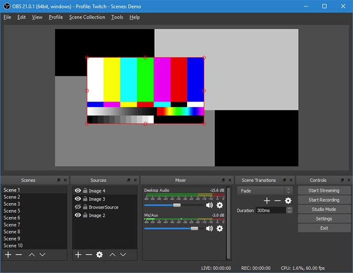 Gravador de tela OBS Studio