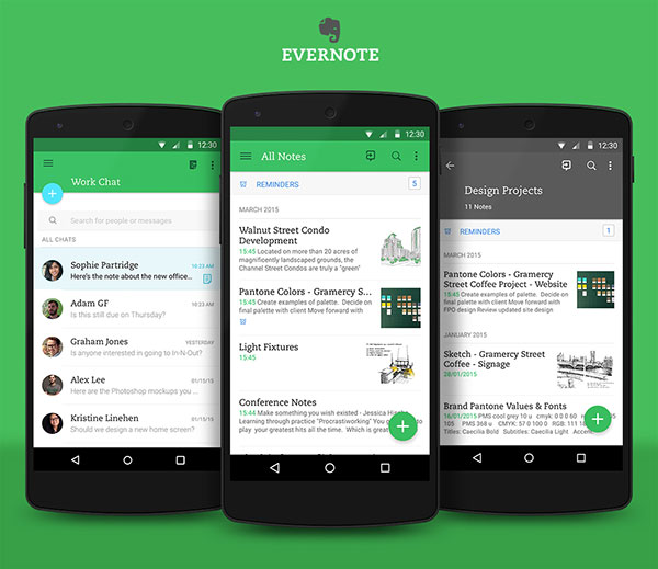 audio recorder Evernote