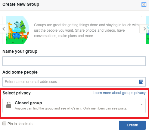 facebook groups setting