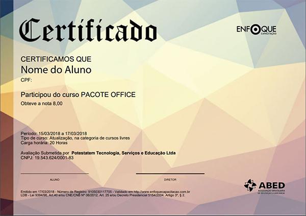 Fazer Cursos Online certificado