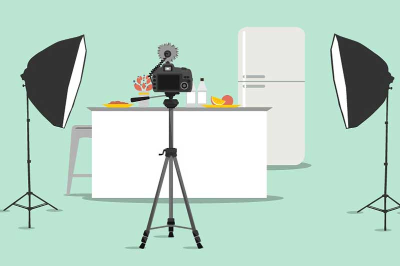 How to set up a home studio to record videos